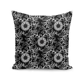 Black&White Sunflower Pattern