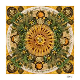 """Floral Aztec calendar"""
