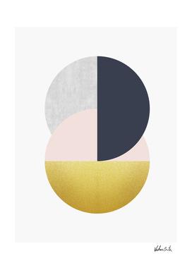 Geometric and golden art