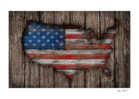 American Wood Flag