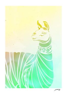 Llama love by #Bizzartino