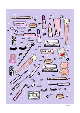 Purple Make Up Love