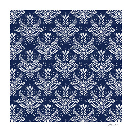 Pattern  Indigo watercolor