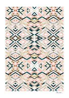 3dimensional marbled geometry pattern