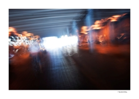 Abstract city lights photo