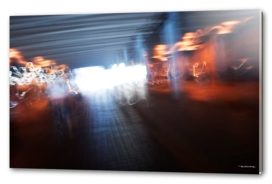 Abstract city lights photo