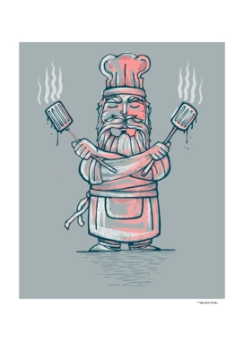 Big bad chef illustration