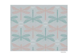 Dragonflies pattern vector illustration
