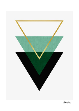 Green and gold triangles