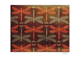 Dragonflies pattern illustration