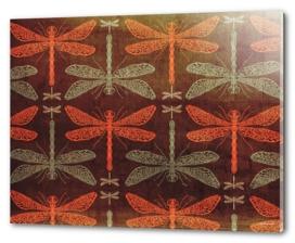 Dragonflies pattern illustration