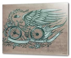 Flying bike illustration
