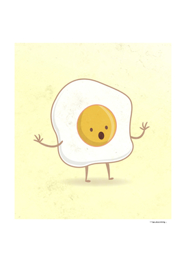 Fried egg digital illustration
