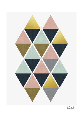 Colorful and golden triangles
