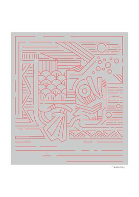 Koi fish minimal vector illustration
