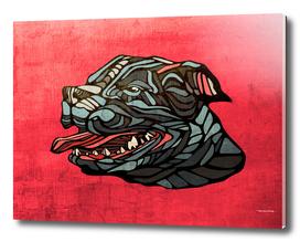 Pitbull abstract head painting
