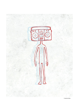 Radio head illustration