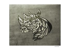 Rhino head contemporary illustration