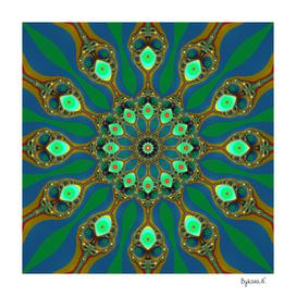 Fractal jewel mandala