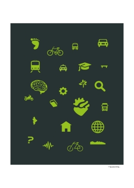 Urban mobility Icons illustration