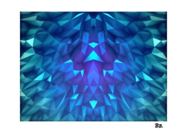 Collosal Low Poly Triangle Pattern Modern Abstract Cubism
