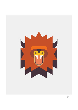 Geometric Tribal Lion