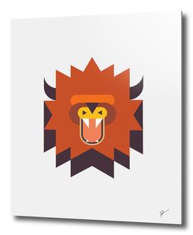 Geometric Tribal Lion