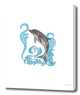 Dolphin Splashing a