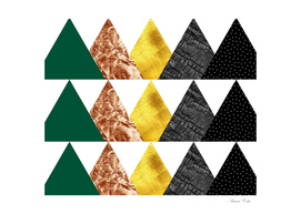 Fall triangle abstract