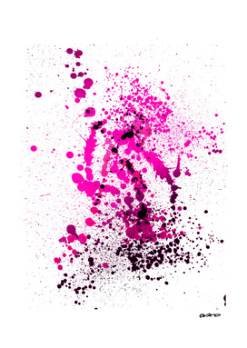 Magenta Madness - Abstract Splatter Art