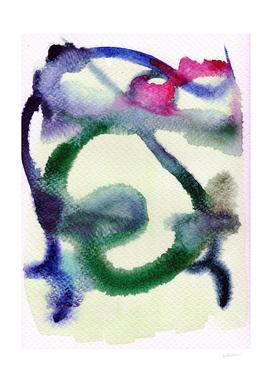 Abstract Man (blue hues)
