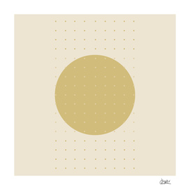 """Cream & Polka dots central circle pattern"""