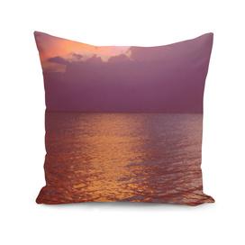 pasel pink and orange sunset