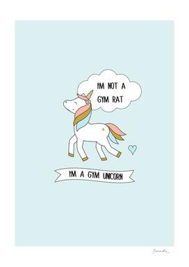 I'm a gym unicorn