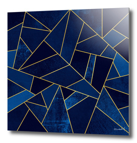 Blue Stone / Yellow Lines