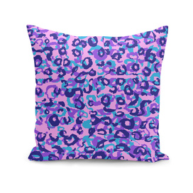 pink blue and purple leopard