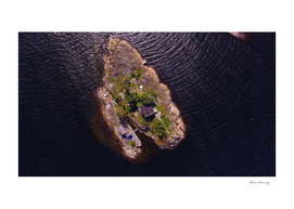 Heart-shaped island in Langesundfjorden