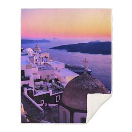 Sunset in Fira,Santorini