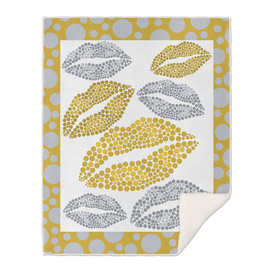Luscious Lips In Gold And Silver