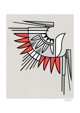 Abstract eagle symbol in indigenous style