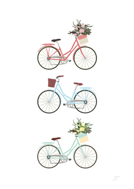 Pastel Bicycle Print