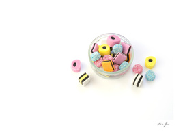 Colored  yummy sweets