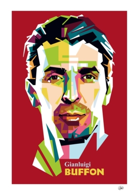Gianluigi Buffon in Pop Art Portrait
