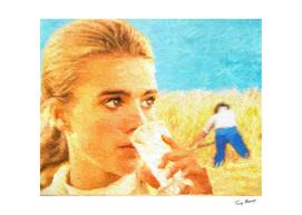 Girl in a wheatfield