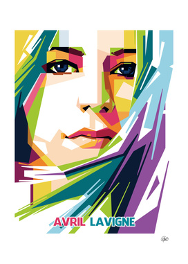 Avril Lavigne in Pop Art Portrait