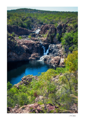 Pools and waterfalls at Edith Falls, Australia