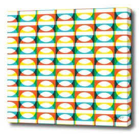 Geometric Pattern #171 (colorful circle squares)