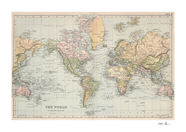Vintage World Map (1892)