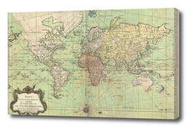 Vintage Map of The World (1778)