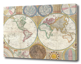Vintage Map of The World (1794)